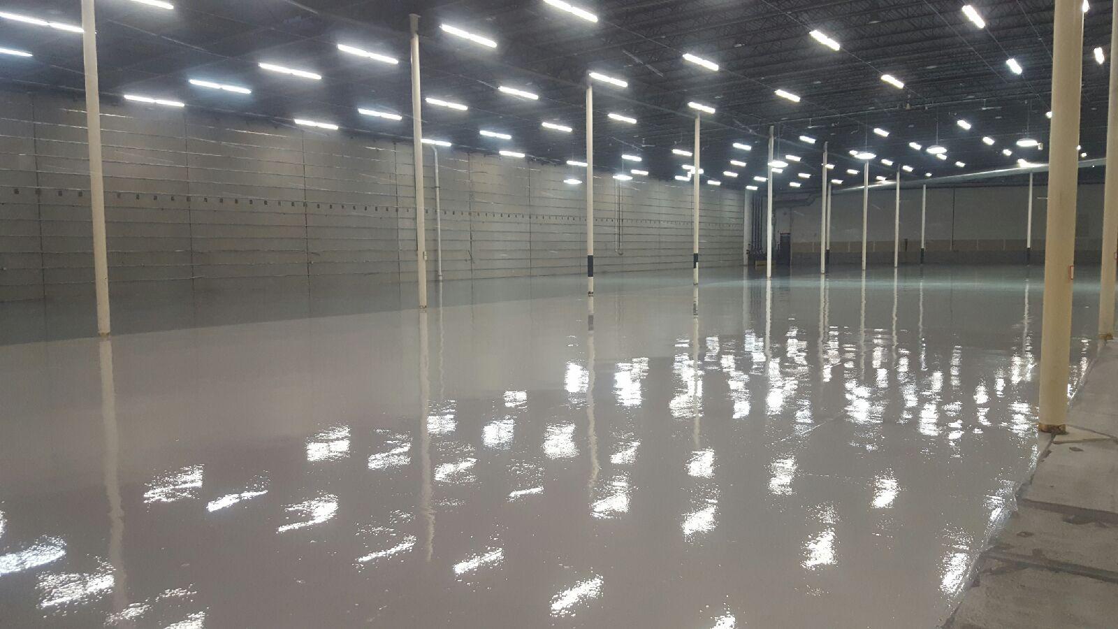 Warehouse storage area flooring